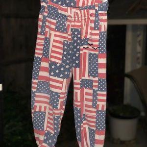 Lazypants american flag sweatpants little boys